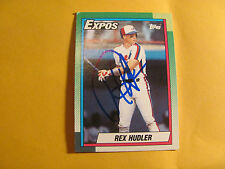 REX HUDLER autographed 1990 Topps  Montreal Expos    auto