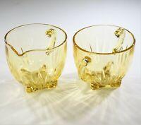 Federal Glass Star Amber Creamer & Open Sugar Set