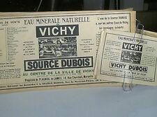 ETIQUETTES BOUTEILLE EAU MINERALE VICHY DUBOIS 1940