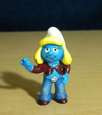Smurfette Diva Smurf Trendy Clothes Vintage Smurfs Figure PVC Toy Figurine 20524