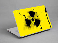 LAPTOP NOTEBOOK SKIN STICKER COVER DECAL NUCLEAR WARNING TOSHIBA HP FIT 17""
