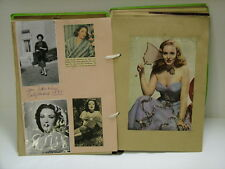 Linda Darnell antique scrapbook magazine clippings photos Collection