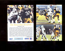 1991 Pinnacle FRANCO HARRIS Pittsburgh Steelers Immaculate Reception Card