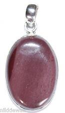 Argent Sterling Gemme de Cristal Mookaite Bijoux Pendentif No.3093