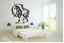 Wall Vinyl Sticker Decals Art Decor Beautiful Unicorn Angel Long Hair Horse #173