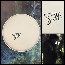 """GFA Dio and AC/DC Drummer * SIMON WRIGHT * Signed 10"""" Drumhead PROOF AD1 COA"""