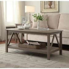Coffee Table Solid Wood Rectangle Rectangular Wooden Modern Rustic Storage Shelf