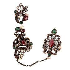 Réglable deux bagues Acrylique Creux fleur Vintage ring pour Fête Cadeaux