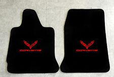 Autoteppich Fußmatten für Chevrolet Corvette C7 Coupe ab 2014 rot Nubuk Velours