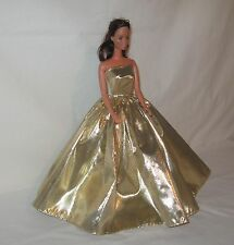 Handmade Gold Lame Barbie Dress