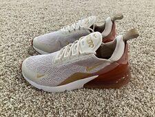 Nike Air Max 270 Sneakers Light Cream/Metallic Gold AH6789-203 Women's Size 8
