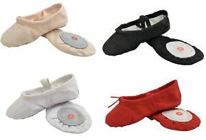 Canvas Ballet Yoga Gymnastic Split Sole Shoes