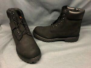 "Timberland Men's 6"" Premium Waterproof Boots Black Black Size 12 DISPLAY MODEL!"