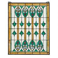 Design Toscano Elmslie Arts and Crafts Stained Glass Window