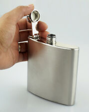 Flask & Funnel Hip Pocket Decanter Canteen 6oz Stainless Steel Liquor Alcohol