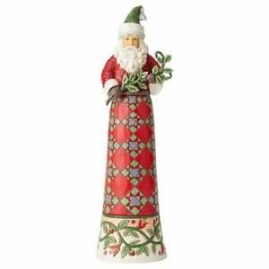 Making Spirits Splendid Tall Santa with Branch Figurine 6004136