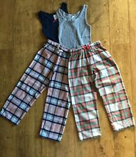 2 Pairs Girls Mini Boden Pyjamas Size 7/8