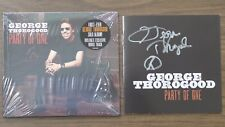 """GEORGE THOROGOOD AUTOGRAPHED """"PARTY OF ONE"""" CD BOOKLET&NEW SEALED CD""""PEACE SIGN"""""""