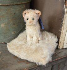 Antique Steiff Fluffy Cat on a Pincushion