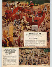 1962 PAPER AD Fort Apache The Alamo Toy Play Set Indians Texas Rangers Cannon