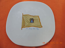 New Jersey State Flag Vintage Collector's Plate By American Decorators rare