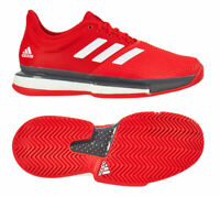 adidas SoleCourt Boost Men's Tennis Shoes Red Racket Racquet US OPEN NWT EF2070