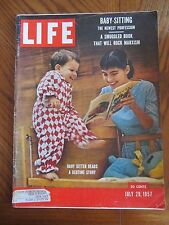Life Magazine Baby Sitter Reads Bedtime Story July 1957
