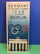 Unusual Vintage 1936 Berlin Olympics Brochure