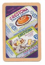 CRESTONA CREAM SPONGE ADVERT X 1 ONLY SGL.VINT.PLAYING/SWAOCARD...YUM