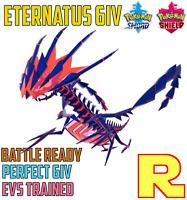 6IV COMPETITIVE ETERNATUS ⚔️ BATTLE READY (+ITEM!) 🛡 SWORD & SHIELD