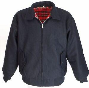 Heavy Duty Navy Wool Harrington Jacket`s
