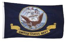 3x5 Tradewinds Navy Flag 3'x5' Nylon Flag USA w/ Clips