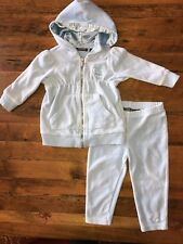 Kenneth Cole Reaction Baby Girl 2 piece Track Suit Size 18 mo Light Blue Hooded