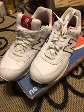New Balance White 574 Men's Size 13 M574DL   White Red Trim
