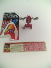 Transformers G1 1985 Powerglide 100% complete w/ tech spec and partial packagin