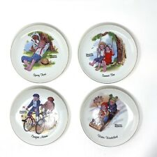 New ListingSet Of 4 Norman Rockwell Collector Plate Four Seasons 6� No Chips/cracks