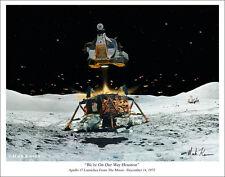 """Apollo 17 Art Print by Mark Karvon - 11"""" x 14"""""""