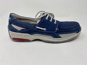 Dunham CI0145 Men's Captain Navy Nubuck Breathable Slip Resistant Boat Shoe 14 D