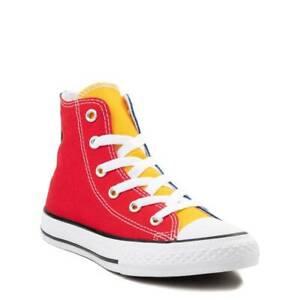 NEW Converse Chuck Taylor All Star Hi Color-Block Sneaker Youth MULTI Color