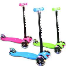 3 Flashing Wheels Kids Scooter Adjustable Height Kick Push Kickboard Brake Child