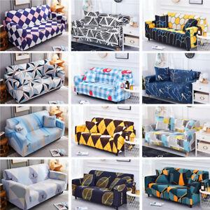 Fashion Modern Sofa Covers 1-4 Seaters Slipcover Elastic Cushion Case Protector