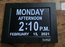 Swinz Alarm Day Clock Sdc008W For Seniors, Dementia , Visuallaly Impaired Used