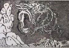 SIMORGH  CONTE EAU FORTE Art Moderne Khosrow PARVIZ XXème Iran Perse Orient