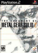 the Document of Metal Gear Solid 2 Sony PlayStation 2 PS2 COMPLETE  RARE
