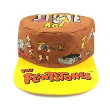 THE FLINTSTONES NEW WITH TAG 1994 HANNA BARBERA YELLOW PAINTERS CAP