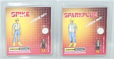 "IMPOSSIBLE TOYS SPIKE AND SPARKPLUG 1"" ACTION FIGURE SET G1 TRANFORMERS"