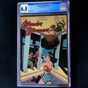 WONDER WOMAN #28 (DC 1948) 💥 CGC 6.5 💥 1st App Villainy Incorporated! Comic