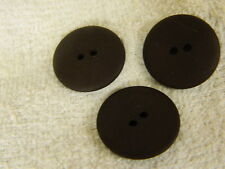 25 NEW 1 INCH DULL FINISH  DARK BROWN BUTTONS