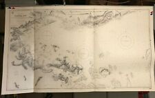 Borneo Indonesia Navigational Chart / Hydrographic Map # 1680, Darvel Bay