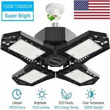 150W LED Garage Light Bulb E27 Deformable Ceiling Fixture Workshop Lamp 15000LM